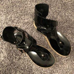 BCBGeneration Black espadrille sandals